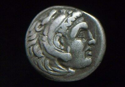 Authentic Greek Silver Drachm of Alexander III the Great 336-323 BC AC0397