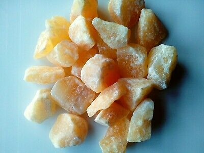 Orange Calcite Crystal, Rough Raw Natural from Brazil