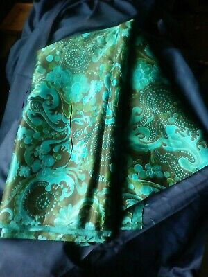 VINTAGE 1960/70s MID CENTURY Fabric 4 1/2 yards 36 inches wide