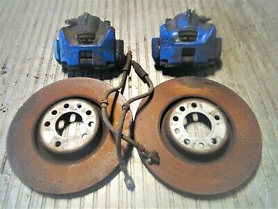 ASTRA MK5 VXR 321mm FRONT BRAKE KIT WITH FLEXI HOSES,PAIR IN BLUE 5-STUD FITMENT