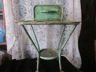Antique Rare Childs Metal Wash Basin-stand