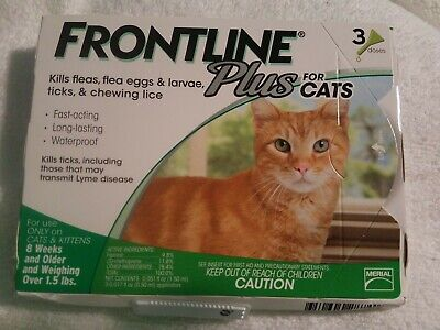 Frontline Plus for Cats Weighing over 1.5 lbs. 3 Month Supply 3-Pack