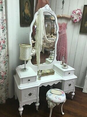 Shabby Chic Style Antique Vanity Distressed