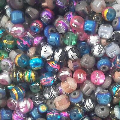 Mixed Size & Colour Glass Beads,  150pce, Free Postage Oz Seller.