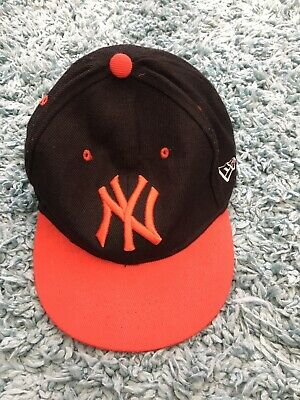 59Fifty (New Era) Boys Black & Red New York Yankees Cap 52 cms Size 6.5 - Used