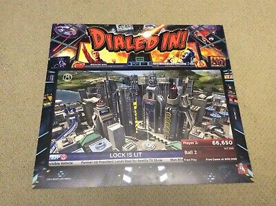 Jersey Jack Pinball Dialed In Promo Trans Light, No Reserve