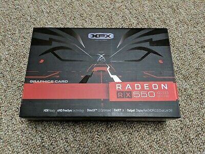XFX AMD Radeon RX 550 4GB GDDR5 Graphics Card Display port HDMI DVI-D 3.0