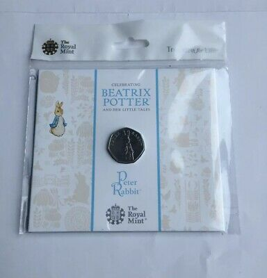 2019 BEatrix Potter 4th Peter Rabbit 50p Fifty Pence Coin BU In Royal Mint Pack