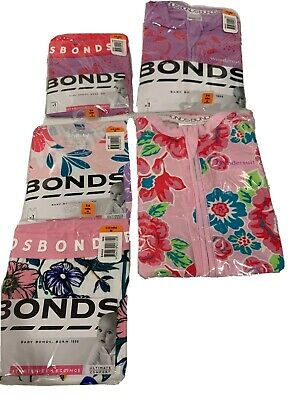 Baby Bonds Bundle Girls Size 00 3-6m Wondersuit , Leggings , Chesty Singlet
