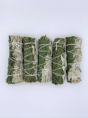 5X California White/Cedar Sage Smudge Sticks 4-5 inches long -Negativity Removal