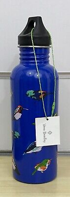 Vera Bradley Water Bottle in Mini Tody Birds Blue