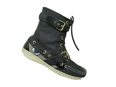 Sperry Top Sider Women/'s Shearwater Buckle Duck Boots Black Size 8US