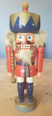 Thuringer Glaskunst German Vintage Wooden Nutcracker
