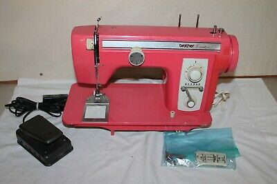 Vintage Brother Festival 451 Sewing Machine Pink Salmon Watermelon NICE!