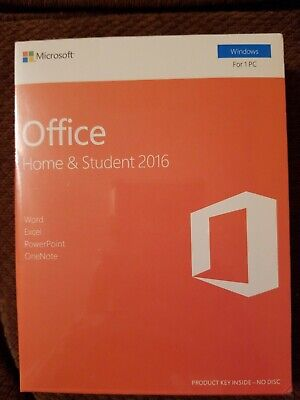 Microsoft Office Home & Student 2016 1-User Pc Key Card 79G-04597