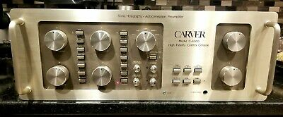 Vtg High Fidelity CARVER C-4000 Sonic Holography Auto Correlation PREAMPLIFIER