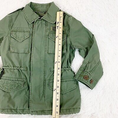 Polo Ralph Lauren Big Girls Size 4 Twill Military-Inspired Cotton Jacket