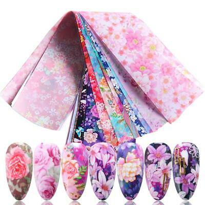 Sky Lace Flower Nail Art Stickers Manicure Decor Holographic Decals Nail Foil