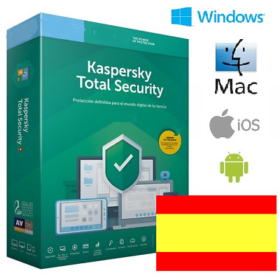 Kaspersky Total Security 2020 1 año 1, 2, 3, 4, 5, 10 dispositivos OFICIAL