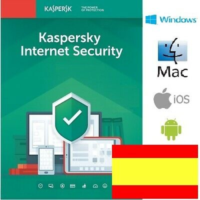 Kaspersky Internet Security 2020 1 año 1, 2, 3, 4, 5, 10 dispositivos OFICIAL