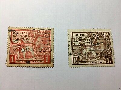 1925 KGV British Empire Exhibition SG432-433. WEMBLEY PARK 1925 Cancel.D2252