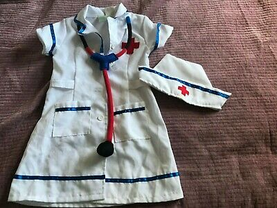 PRELOVED Kids Girls Early Learning Centre Nurse Doctors  Outfit - AGE 4-5T