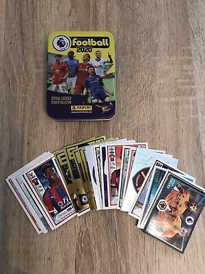 Panini Football 2020 Premier League Sticker Collection 44 Stickers & Tin No Dup