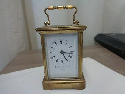 Mathew Norman Brass carriage clock