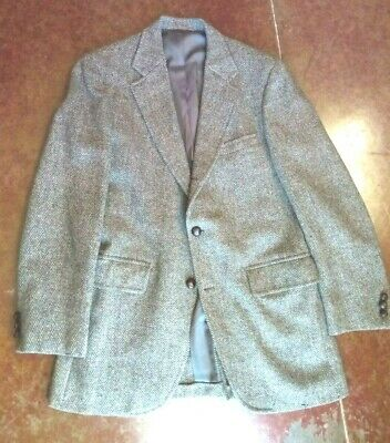 40R Tweed Sport Coat suit Jacket blazer Ivy J Press brooks brothers style TRAD