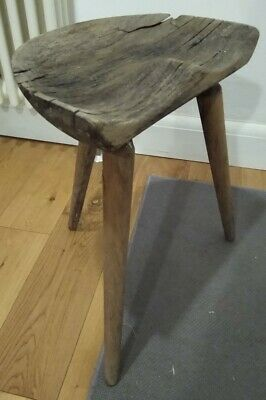 Rustic wooden stool, ideal doll chair or plant stand