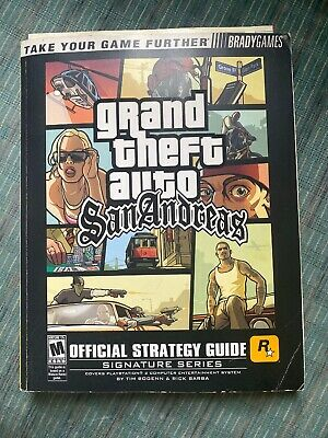 Official Strategy Guide For PlayStation 2 Grand Theft Auto SAN ANDREAS With Map