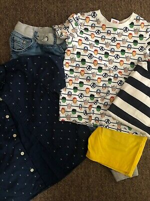 Boys Bundle Age 4 Tshirts Shirt Shorts Jeans H&M Next Marvel F&F