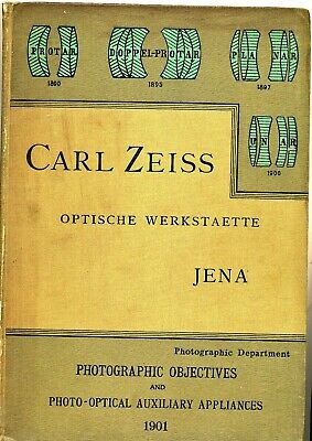 Antique 1901 Illustrated Catalogue of Carl Zeiss Photographic Lenses