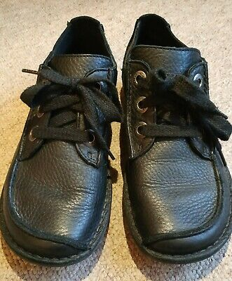 Clarks Unstructured Funny Dream Black Leather Rambler Shoes Size 5 EU38