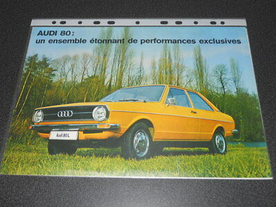 AUDI 80 brochure catalogue - Edition 9/1972 rare !!!