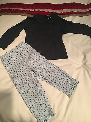 Age 24 Months (age 2) Vertbaudet Girls Outfit - Legging/tracksuit And Top
