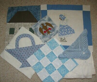 ~ Mixed lot of 14 Orphans ~ Applique ~ Patchwork ~ Cutter Piece ~ Embroidery