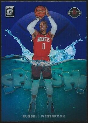 "2019/20 Donruss Optic RUSSELL WESTBROOK ""SPLASH!"" Purple Holo Prizm Insert #10"