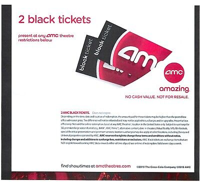 AMC Movies Tickets, One Large Popcorn and Two Large Drinks