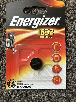 Duracell Energizer Cr1632 3V Lithium Coin Cell Battery