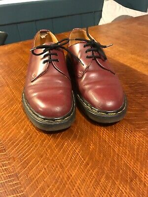 Dr Martens Made In England Vintage Cherry Red Mary Janes Uk 6