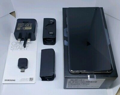 Samsung Galaxy S10 Plus 128GB Prism Black Dual sim (Unlocked) Smartphone