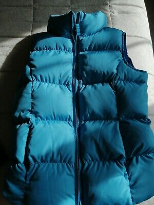 Girls Age 7-8 Lands End Turquoise Body Warmer