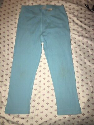 Hanna Andersson Capri Ribbed Blue Leggings Size 140