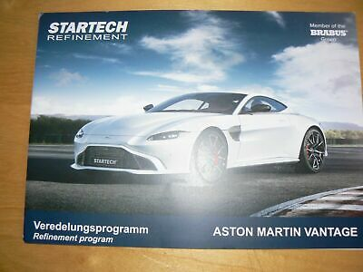 STARTECH ASTON MARTIN Vantage brochure catalogue - édition 02/2019