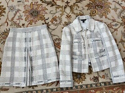 Brooks Brothers Zac Posen Tweed Blazer Skirt Suit Size 2 DRY CLEANED