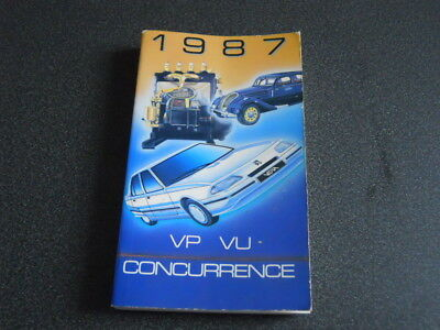 PEUGEOT brochure catalogue document interne VP-VU concurrence - 1987 - très rare