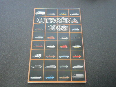 CITROEN brochure catalogue document interne réseau commercial gamme 1982 rare !