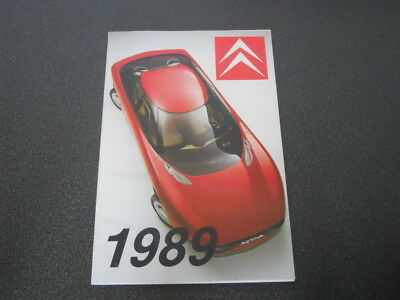 CITROEN brochure catalogue document interne réseau commercial gamme 1989 rare !