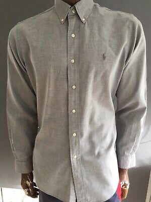 Mens Ralph Lauren L/S Casual Shirt Size Large Custom Fit 100%Genuine V.vgc